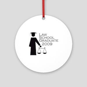 Law School Graduate 2009 Ornament (Round)