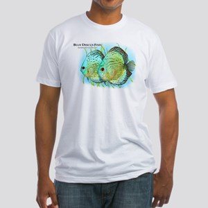 Blue Discus Fish Fitted T-Shirt