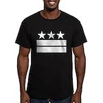 3 Stars 2 Bars Men's Fitted T-Shirt (dark)