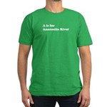 A is for Anacostia River Men's Fitted T-Shirt (dar