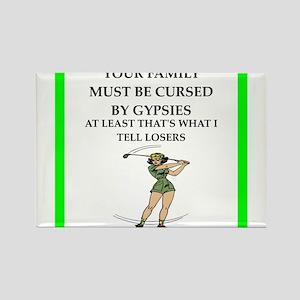 Gypsy curse gaming joke Magnets