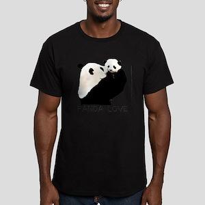 panda mom and cub Men's Fitted T-Shirt (dark)