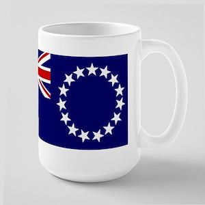 cook islands Flag Large Mug