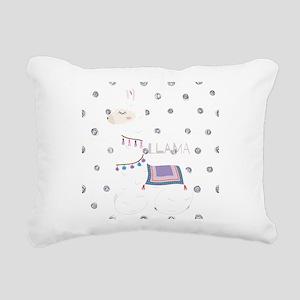 No Drama Llama Rectangular Canvas Pillow