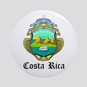 Costa Rican Coat of Arms Seal Ornament (Round)