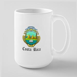Costa Rican Coat of Arms Seal Large Mug