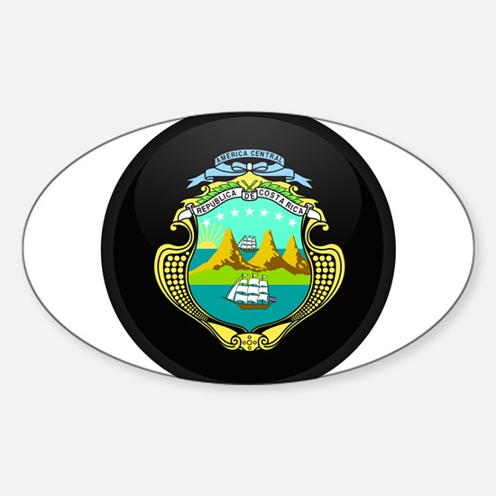 Coat of Arms of Costa Rica Oval Decal
