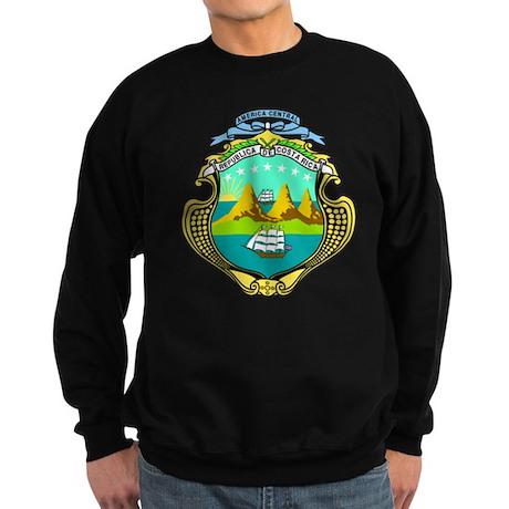 Costa Rica Coat of Arms Sweatshirt (dark)