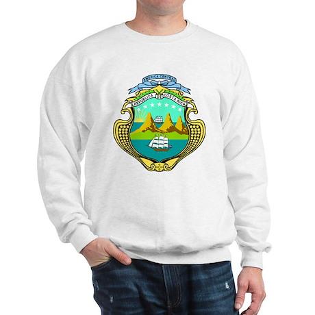 Costa Rica Coat of Arms Sweatshirt