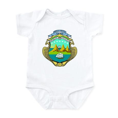 Costa Rica Coat of Arms Infant Bodysuit