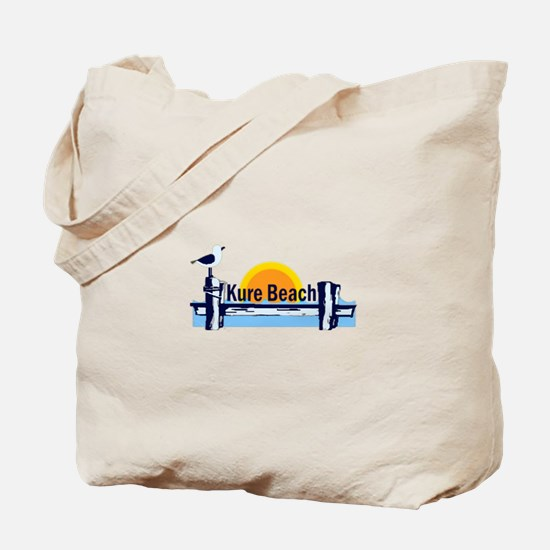 Kure Beach Pier Tote Bag