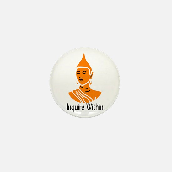 """Inquire Within"" Mini Button"