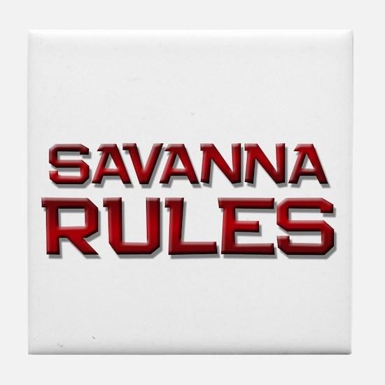 savanna rules Tile Coaster