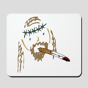 Jesus Smoking Christian Crack Mousepad