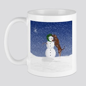 Catahoula Dog and Snowman Mug