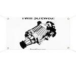 Twin Screwed! - Supercharger Racing Garage Banner