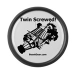 Twin Screwed! - Supercharger - Large Wall Clock