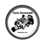 Twin Screwed! - Supercharger - Racing Wall Clock