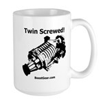 Twin Screwed! - Supercharger - BoostGear Large Mug
