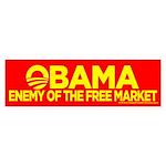 Omama, Enemy of The Free Market Bumper Sticker