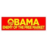Omama, Enemy of The Free Market Bumper Sticker