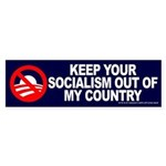 Keep Socialism Out of USA Bumper Sticker