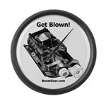 Get Blown! - Supercharger - Large Wall Clock