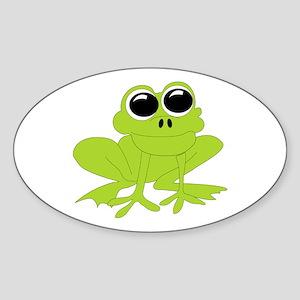 Frog Oval Sticker