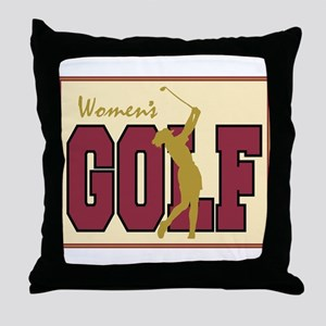 Women's Golf Throw Pillow