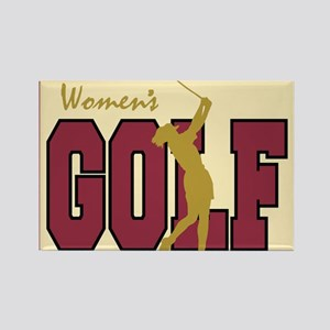 Women's Golf Rectangle Magnet