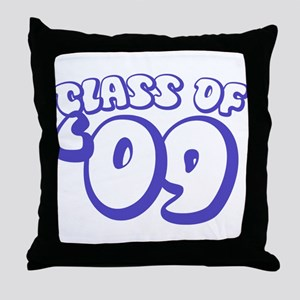 Class Of 09 (Purple Bubble) Throw Pillow