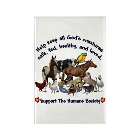 All Gods Creatures Rectangle Magnet