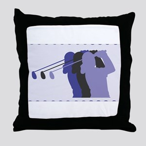 Lady Golfer Throw Pillow
