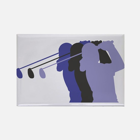 Lady Golfer Rectangle Magnet