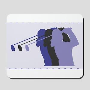 Lady Golfer Mousepad