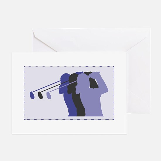 Lady Golfer Greeting Card