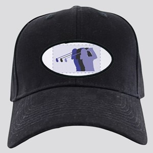 Lady Golfer Black Cap
