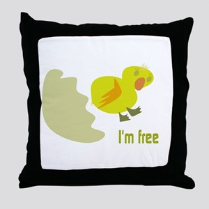 CUTE CHICK / I'M FREE Throw Pillow