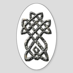 Celtic Cross 1 Oval Sticker