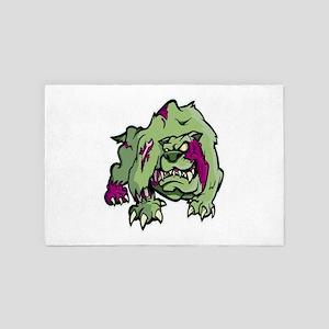 Zombie Dog - English Bulldog Halloween 4' x 6' Rug