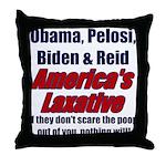 America's Laxative Throw Pillow