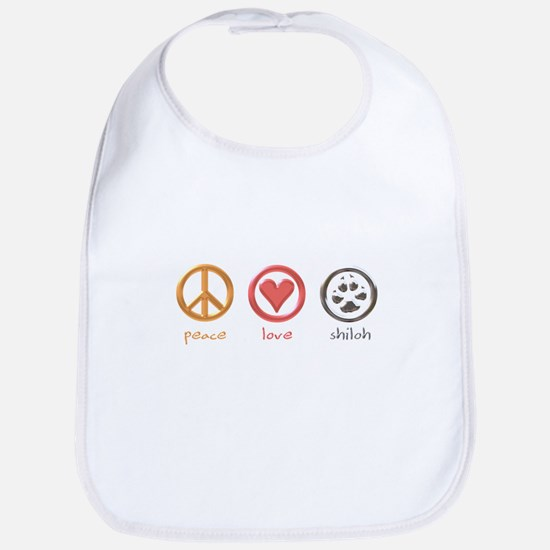 peace-love-shiloh Bib
