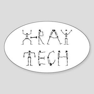 X-Ray Tech Oval Sticker