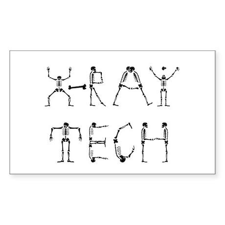 X-Ray Tech Rectangle Sticker