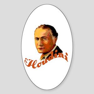 Harry Houdini Portrait Oval Sticker
