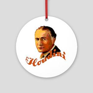 Harry Houdini Portrait Ornament (Round)