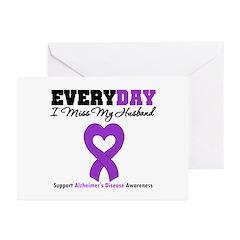 Alzheimer's MissMyHusband Greeting Cards (Pk of 20