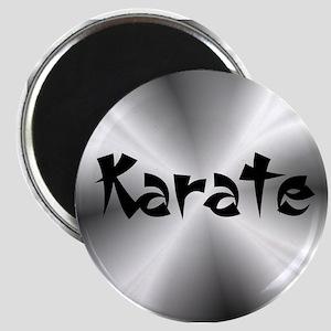 Karate Silver Fractal Magnet