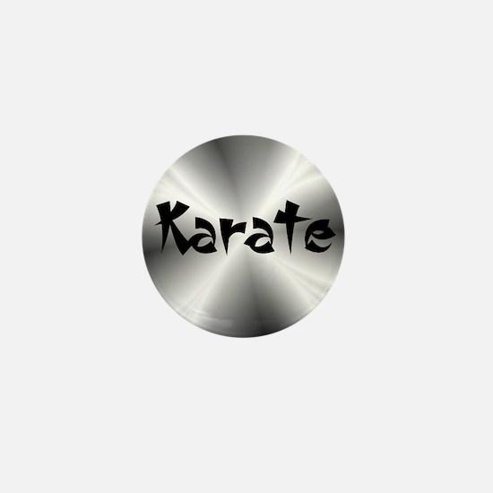 Karate Silver Fractal Mini Button