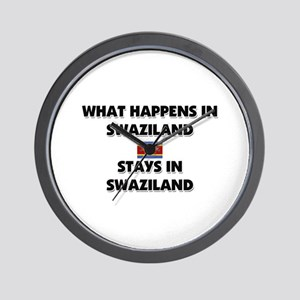What Happens In SWAZILAND Stays There Wall Clock